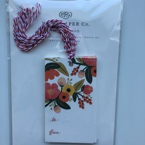 Rifle Paper Co floral gift tags